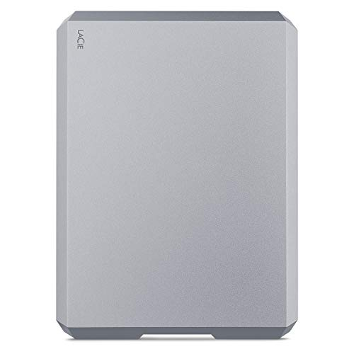 LaCie MOBILE DRIVE, tragbare externe Festplatte 2 TB, 2.5 Zoll, USB-C, Mac & PC, space grey, inkl. 2 Jahre Rescue Service, Modellnr.: STHG2000402