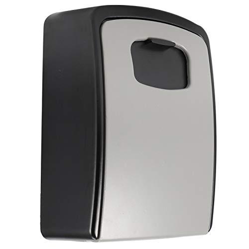 CUEA Caja con cerradura para llaves, protección contra la corrosión, aleación de cinc, resistente para el uso en la fábrica (gris, 14,5 x 10,5 x 5,5 (cm)