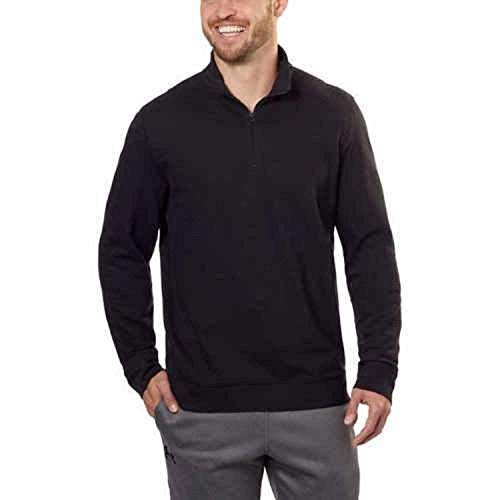 Calvin Klein Mens ¼ Zip Pullover, (X-Large) Black