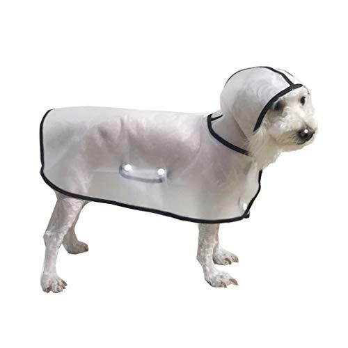 BbearT® BbearT® Haustier-Regenmantel, Hunde-Regenmantel, Poncho, ultraleicht, transparent, Regenmantel mit Kapuze, wasserdichte Jacke/Mantel für kleine Hunde/Welpen