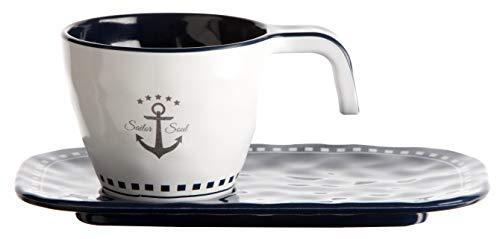 Marine Business Espressotasse mit Unterteller - Sailor Soul, Einzeln