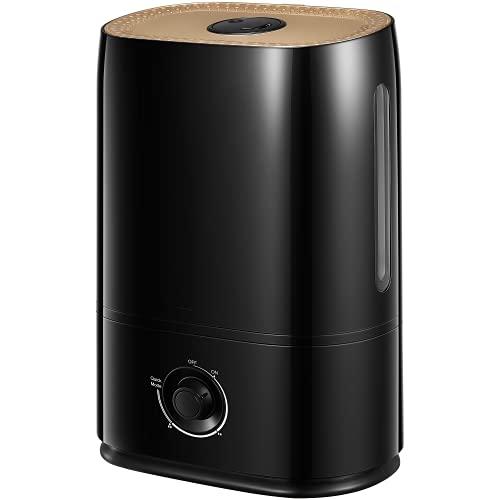 Humidificador ultrasónico de 5 litros para grandes dormitorios de 40 horas de autonomía, nano-revestimiento, boquilla de 360°, con apagado automático y humidificador ultrasilencioso