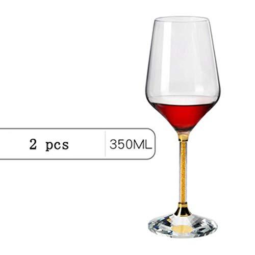 1 paar loodvrije kristallen diamant wijnglas thuis beker bruiloft cadeau wijn glas champagne glas thuis drinkwerk A2 Goud