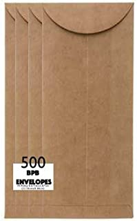 Kraft Policy Envelopes Recycled Brown Paper Bag Style, Top Loading - Size 9-25 Envelope per Package- Perfect for Money or ...