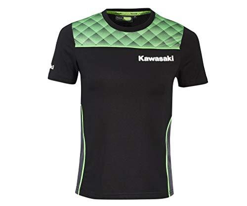 Kawasaki Sports - Camiseta para mujer negro / verde L