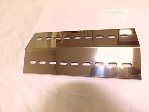 Manufaktur Stollenwerk 435mm x 200mm x 1mm Edelstahl Flammenverteiler/Flammenabdeckung/Grillblech – super Ersatzteil für Grandhall, Patton, Santos etc. (435-200-1)
