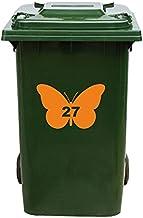 Kliko Sticker/Vuilnisbak Sticker - Vlinder - Nummer 27-14x21 - Oranje