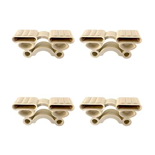 Cortassa Kit de 4 Soportes amortiguados para somier de láminas de Caucho de 38 mm, Mod. SEBS, Negro, Completo