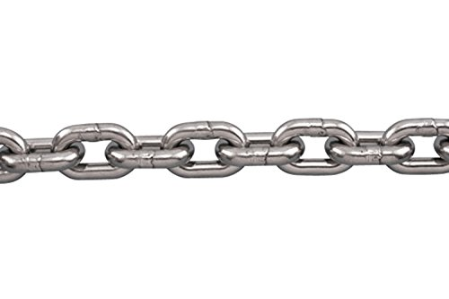 MarineNow Stainless Steel Anchor Chain 316 5/16' DIN 766 BBB (040 ft)