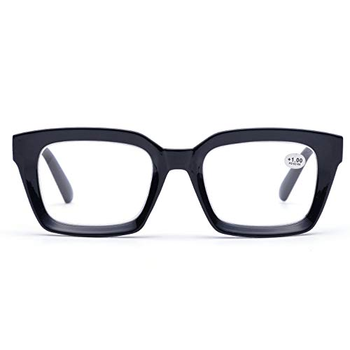 Retro Style Square Reading Glass Big Eyeglass Frames Large lens 50mm