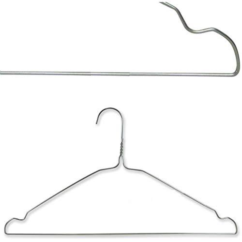 Grucce in Metallo 40 Cm per Camicie Giacche Vestiti T-Shirt salvaspazio con Intagli per Lavanderia 100 Pezzi