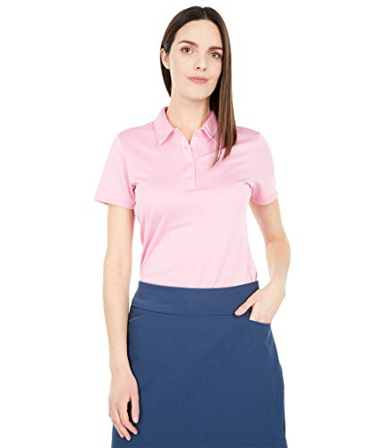 adidas Golf Women's Performance Primegreen Polo Shirt, Pink 1, Extra Large