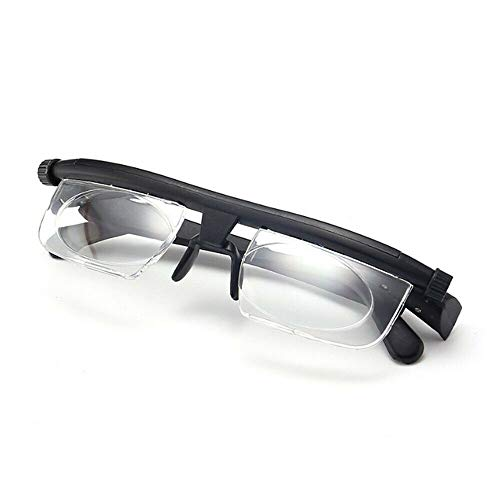 Focus Adjustable Reading Glasses +3D to -6D Diopters Dial Vision Adjustable Glasses Magnifying Reading Glasses Variable