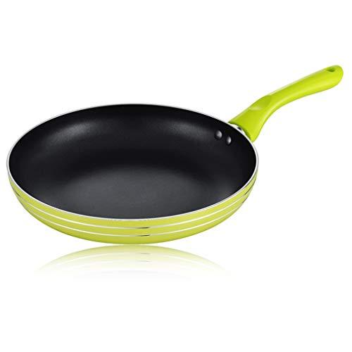 Sartén Pan antiadherente sin tapa anodizado duro sartén Wok Cocina Pan Tortilla sartén aleación de aluminio de la manija permanecer fresco Adecuado for su uso en todas las hornillas de la cocina Sarté