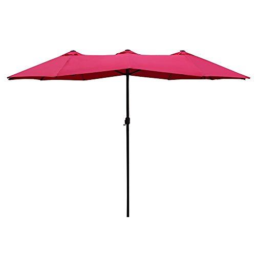 Le Papillon Double-Sided Aluminum Patio Umbrella - 15 ft.