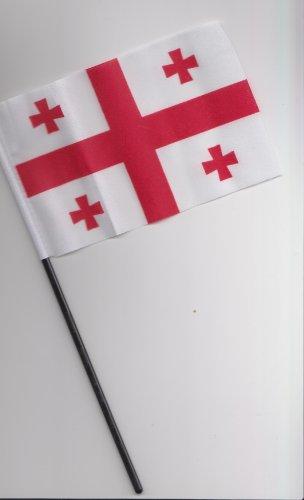 Georgien Hand Flagge 25cm