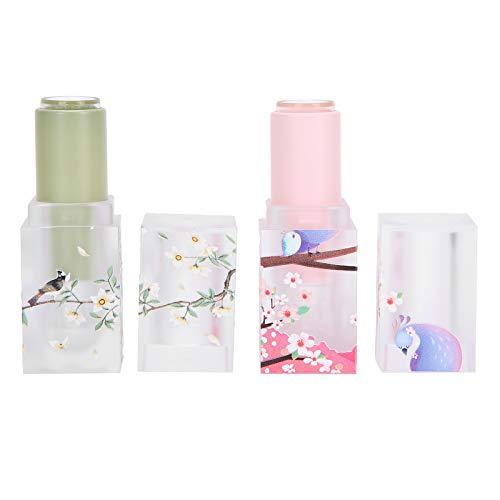 Jacksing Tubos de lápiz Labial, Tubos cosméticos de bálsamo Labial para Bricolaje, Perfume sólido vacío para lápices labiales caseros