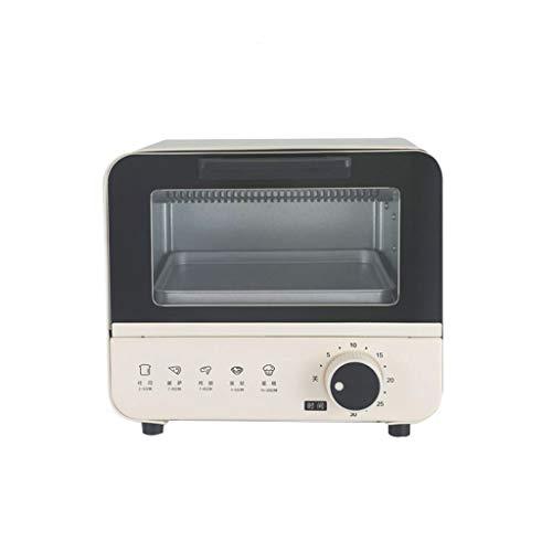 Fours grille-pain Mini Four 6L, contrôle de température et minuterie réglables, Double Porte vitrée avec Plaque de Cuisson et Plaque de réception de laitier -800W