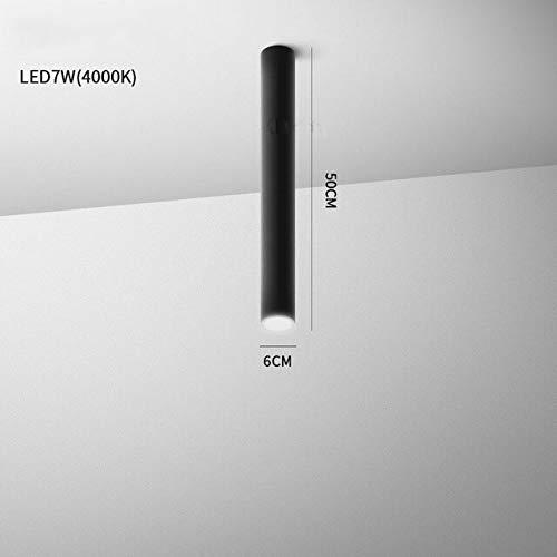 WSYYWD Lámpara de techo led moderna en blanco y negro sala de estar lámpara de foco de cocina downlight cilíndrico