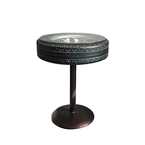 LQJYXD Schoenkruk Amerikaanse Stijl Bar Casual Hoek Bureau Koffietafel Creatieve Industriële Wind Tire Tafel En Stoel Koffietafel (42x55cm) (Maat: 42x55cm)