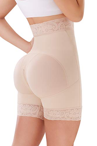 SHAPE CONCEPT 003 Butt Lifter Shorts Levanta Cola Colombianos High-Compression Girdle Short Beige