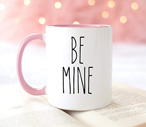 11 Ounces Coffee Mug, Be Mine Mug Valentine'S Day Mug Rae Dunn Valentine'S Inspired Mug Farmhouse Decor Valentine'S Mug Gift Valentine'S Gift Pink Mug Only One Mug