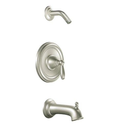 Moen T2153NHBN Brantford Posi-Temp Pressure Balancing Tub and Shower Trim Kit without Showerhead Valve Required, Brushed Nickel