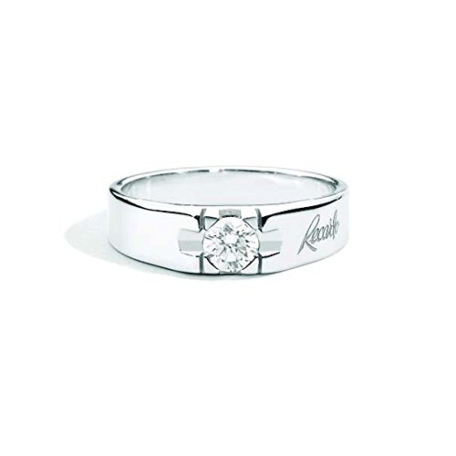 Recarlo Ring voor heren, witgoud met diamant