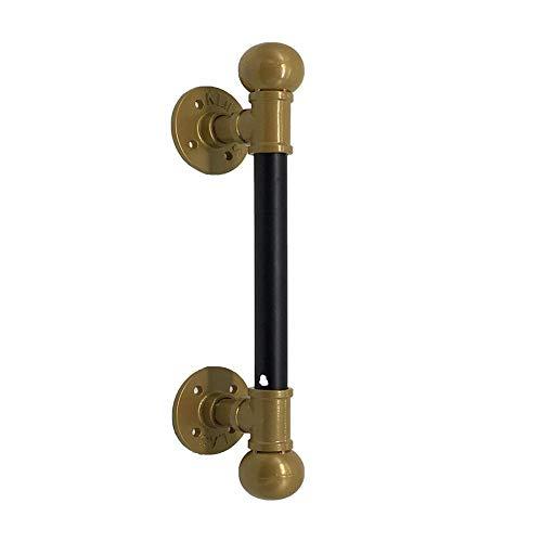Zwarte waterpijpgreep Houten deur Glazen deur Grote handgreep Deurgreep Industriële windgreep Grote gouden decoratieve klopper Voor het maken van doe-het-zelf