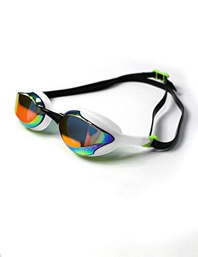 ZONE3 Volaire - Gafas de natación (cristal), color blanco y lima