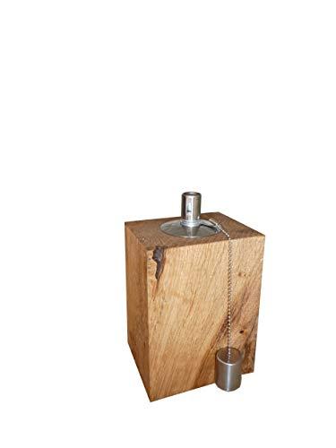 Gartenfackel Holz Eiche Terassenfackel Ölfackel Öllampe Tischfackel Gartenlicht