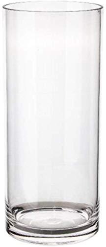 Grote Diameter Hydroponic vaas, Ronde decoratieve vaas 4 Maten Transparant Vaas Thicken Plastic Vaas Lengte 20-60CM Decor Vazen (Size : 17.5 * 17.5 * 40CM)
