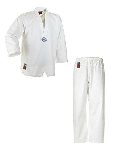 Ju-Sports Traje de taekwondo para niños, color blanco, 130 cm