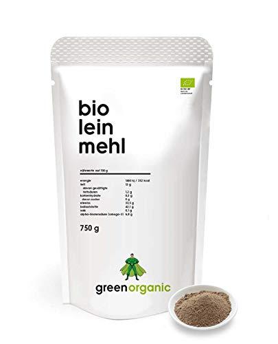 BIO PREMIUM LEINSAMENMEHL - Lower-Carb, glutenfrei, vegan, entölt, eiweißreich, ballaststoffreich, Diät-geeignet, Pflanzen-Protein, paleo, fair und nachhaltig, 750 g