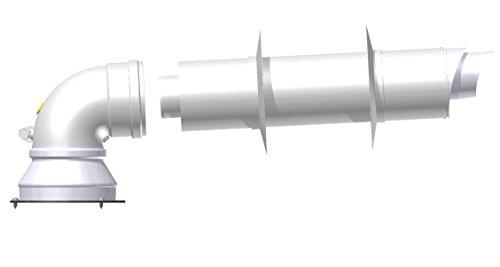 JUNKERS BOSCH - KIT COASSIALE D=60/100 compatibile per Caldaie Condesazione, completo di Curva 87° e Condotto con Terminale ed Accessori, per aspirazione e scarico fumi