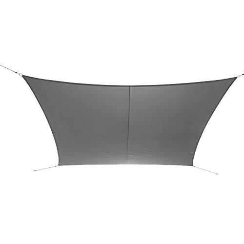 Ribelli Sonnensegel Sonnenschutz für Garten Balkon und Terasse Rechteck UV Schutz 50+ Schattenspender Wasserabweisend imprägniert Wetterschutz (3x5m, Grau)