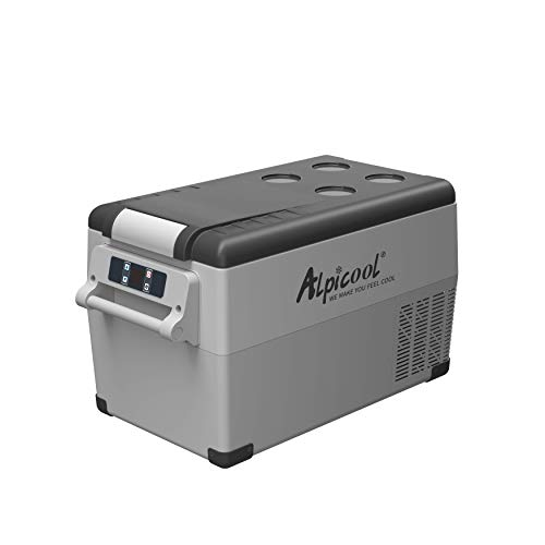 Alpicool CF35 Portable Refrigerator 12 Volt Car Freezer 37 Quart(35 Liter) Vehicle, Car, Truck, RV, Boat, Mini fridge freezer for Driving, Travel, Fishing, Outdoor and Home -4°F to 68°F