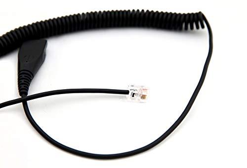 Axtel 02 - Cable para Auriculares con desconexión rápida para teléfonos SNOM seleccionados, Grandstream, Alcatel