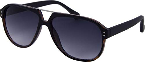 Gafas de sol unisex Panto Kat.3 negro/marrón (AZ-8135)