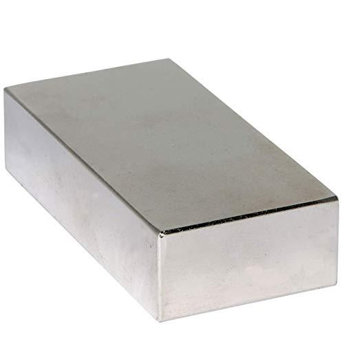 Neodym Magnet N52 80mm x 40mm x 20 mm - Extra Stark Super Magneten Quader Groß - Neodym Magnete 220KG Power Block Platte
