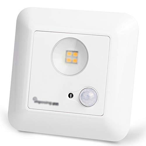 Veilleuse de nuit - PC, mode double induction 120 °, réglage double, conversion automatique de commande de lumière infrarouge intégrée Veilleuse intelligente à DEL pour la maison, couloir, escalier, c