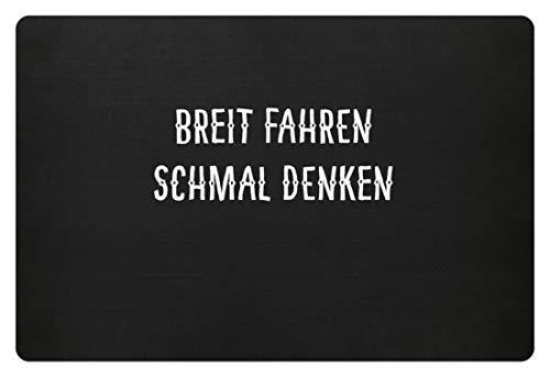 SPIRITSHIRTSHOP Breit Fahren Schmal Denken Bundeswehr - Fußmatte -60x40cm-Schwarz