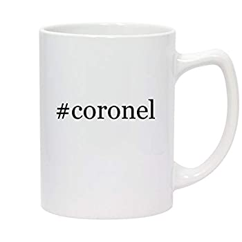 #coronel - 14oz Hashtag White Ceramic Statesman Coffee Mug