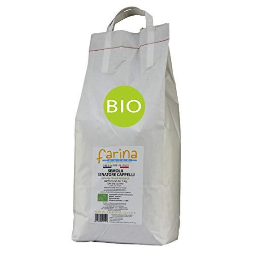 5 kg semola biologica di grano duro BIO antico varietà Senatore Cappelli per PASTA (cf. 5 kg)