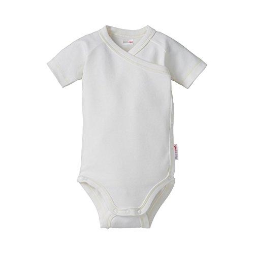 Bornino Le Body Portefeuille à Manches Courtes bébé, Blanc