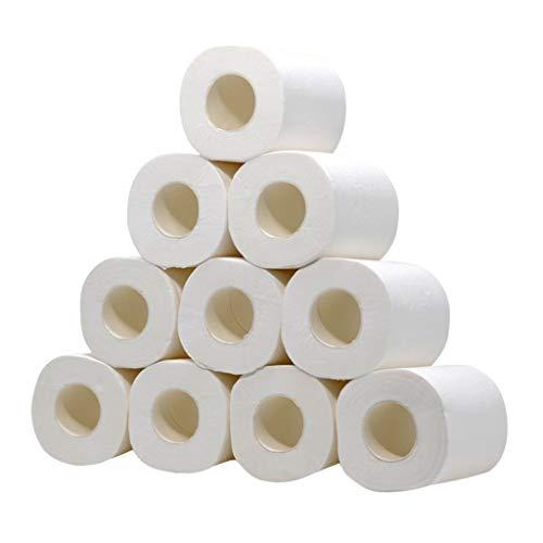 ZHANSANFM 6/8/12 x Hohlrollenpapier, 3-lagiges ECO Toilettenpapier trocken Ultra Senses WC Papier Klopapier 3 lagig Ultra Soft Toilettenpapier (6PCS, Weiß)