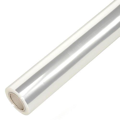 100m Rolle Geschenkfolie 70cm 25my unbedruckt klar transparent // Blumenfolie Klarsichtfolie Folie 50-mm Secarekern Geschenkpapier Abrollger?te