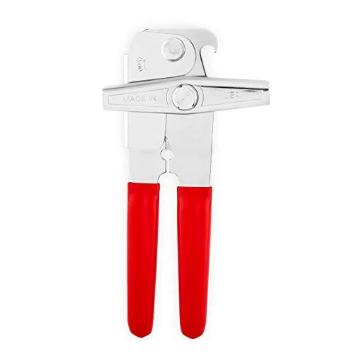 EZ-DUZ-IT Deluxe Can Opener with Red Grips