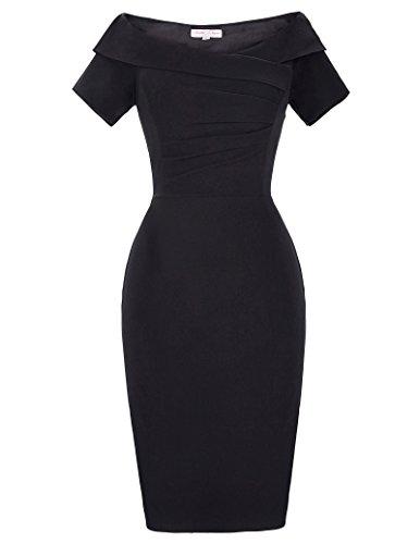Belle Poque Stretch Kleider Damen sexy etuikleid 50er Jahre Kleid Sommerkleid Größe 32 BP158-1
