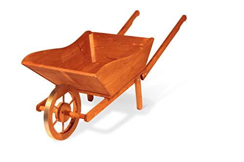 GartenDepot24 - Fioriera decorativa in legno, 146 x 58 x 57 cm (L x P x A), colore: marrone